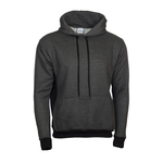 Contrast color hooded sweatshirt with inserts