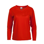 Long sleeve women's V-neck shirt