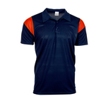 Contrast color shoulder polo shirt