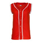 Sleeveless Women's jersey with piping