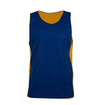 Reversible tank with contrast color inserts