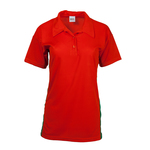 Ladies' polo shirts with side inserts