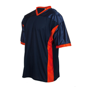 Fan football jersey with side panels