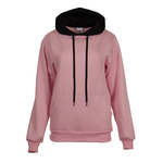 Ladies' Hooded sweatshirt with contrast color hood