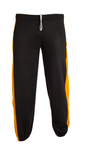 Sweatpants with contrast color side inserts