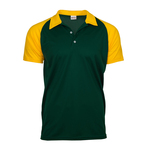 Contrast color raglan sleeve polo shirt